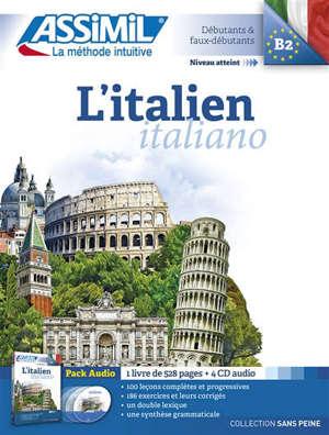 L'italien = Italiano : niveau atteint B2, débutants & faux-débutants : pack audio
