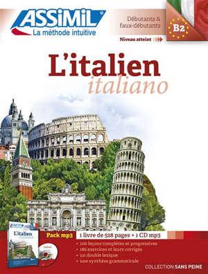 L'italien = Italiano : niveau atteint B2, débutants & faux-débutants : pack MP3