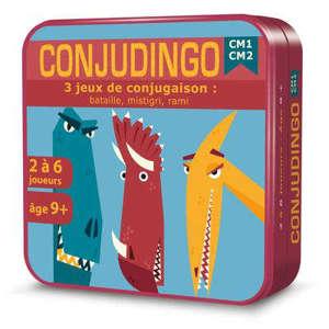 Conjudingo, CM1 CM2 : 3 jeux de conjugaison : bataille, mistigri, rami