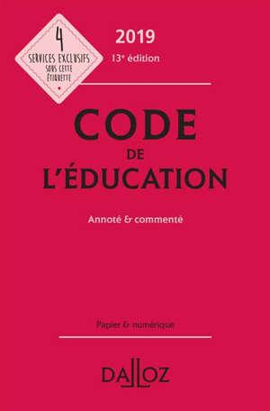 Code de l'éducation 2019, annoté & commenté