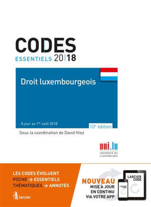 Droit luxembourgeois 2018
