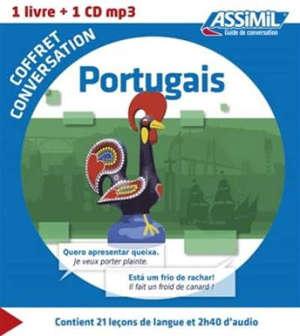 Coffret conversation portugais : 1 livre + 1 CD MP3