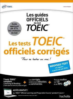 Les tests officiels corrigés : les guides officiels du TOEIC
