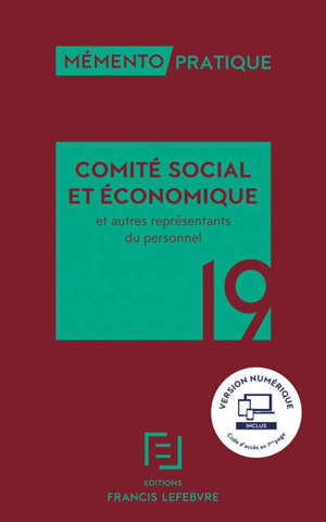 Comité social et économique et autres représentants du personnel 2019