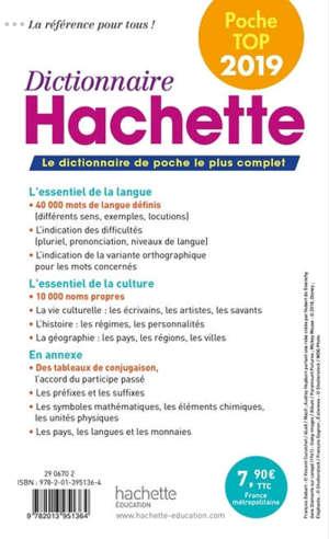 Dictionnaire Hachette encyclopédique de poche top 2019 : noms propres et noms communs : 50.000 mots, 10.000 noms propres