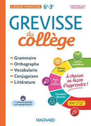 Grevisse du collège : langue française, 6e-3e