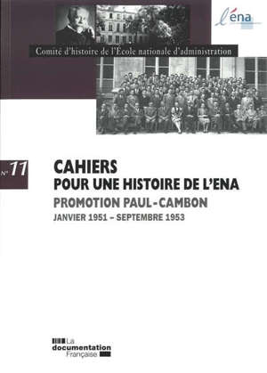 Promotion Paul-Cambon : janvier 1951-septembre 1953