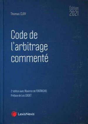Code de l'arbitrage commenté 2021