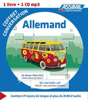 Coffret conversation allemand : 1 livre, 1 CD MP3