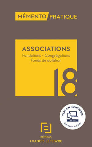 Associations : fondations, congrégations, fonds de dotation : 2018