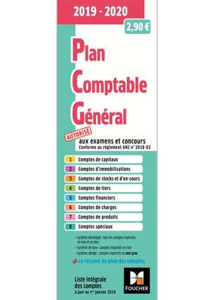 Plan comptable général 2019-2020