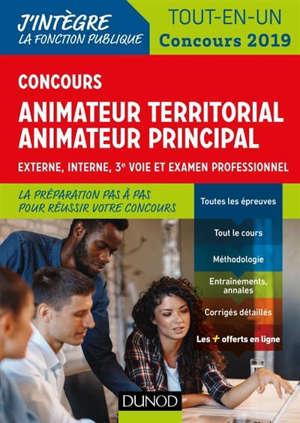 Concours animateur territorial, animateur principal : externe, interne, 3e voie et examen professionnel : tout-en-un, concours 2019