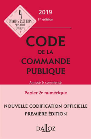 Code de la commande publique 2019