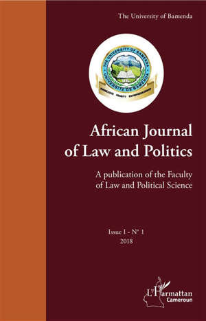 African journal of law and politics. n° 1 (2018)