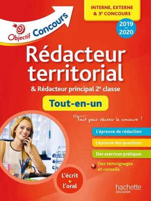 Rédacteur territorial & rédacteur principal 2e classe : interne, externe & 3e concours : tout-en-un, 2019-2020