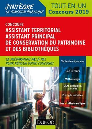 Concours assistant territorial, assistant principal de conservation du patrimoine et des bibliothèques : tout-en-un concours 2019