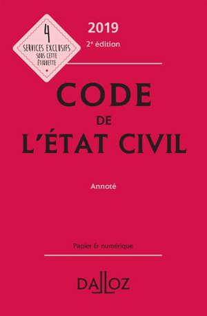 Code de l'état civil 2019 : annoté