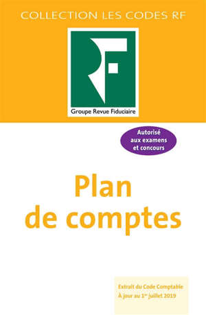 Plan de comptes : extrait du Code comptable : autorisé aux examens et concours