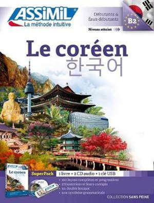 Le coréen : débutants & faux-débutants, niveau atteint B2 : superpack 1 livre + 2 CD audio + 1 clé USB
