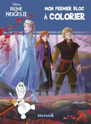 La reine des neiges II : mon premier bloc à colorier