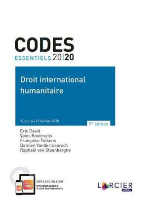 Code de droit international humanitaire : 2020
