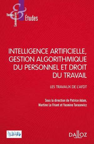 Intelligence artificielle, gestion du personnel et droit du travail : les travaux de l'AFDT
