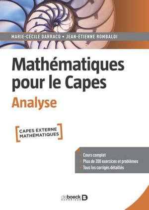 Mathématiques pour le Capes : analyse