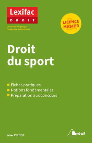 Droit du sport : licence, master