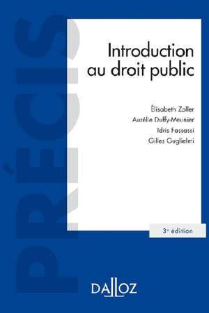 INTRODUCTION AU DROIT PUBLIC - 3E ED.