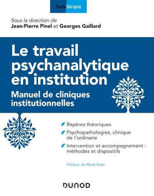 Le travail psychanalytique en institution : manuel de cliniques institutionnelles
