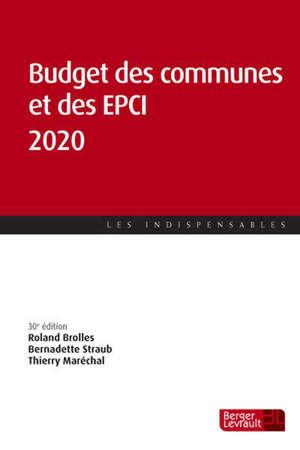 Budget des communes et des EPCI 2020