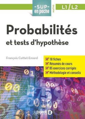 Probabilités et tests d'hypothèse, L1-L2