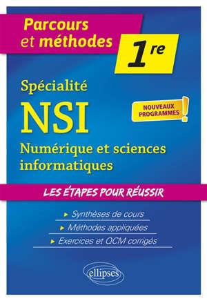 Spécialité NSI, numérique et sciences informatiques, première : nouveaux programmes