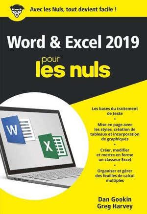 Word & Excel 2019 pour les nuls