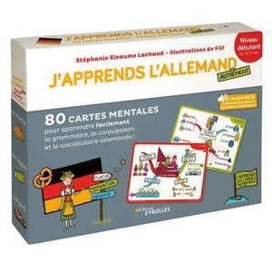 J'apprends l'allemand autrement : niveau débutant : 80 cartes mentales pour apprendre facilement la grammaire, la conjugaison et le vocabulaire allemands !