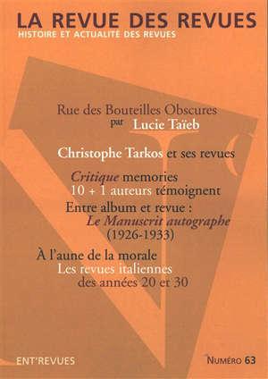 Revue des revues (La). n° 63