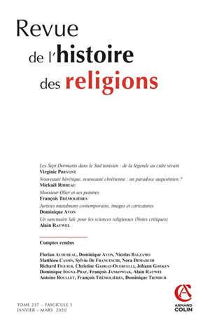Revue de l'histoire des religions. n° 1 (2020)