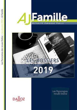 Les dossiers 2019 de l'AJ famille