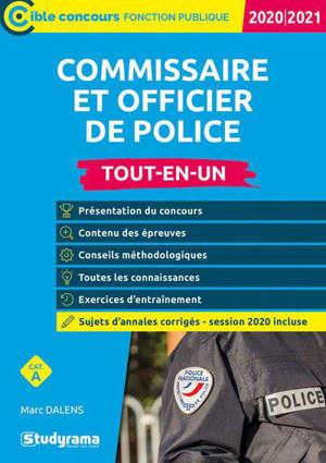 Commissaire de police et officier de police : tout-en-un, catégorie A : 2020-2021