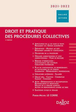 Droit et pratique des procédures collectives 2021-2022