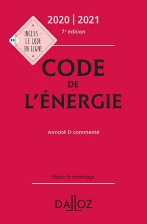 Code de l'énergie 2020-2021