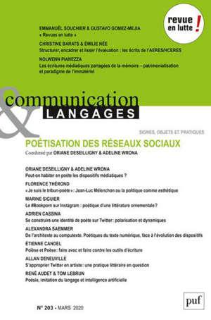 COMMUNICATION ET LANGAGES 2020, N.203