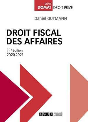 Droit fiscal des affaires : 2020-2021