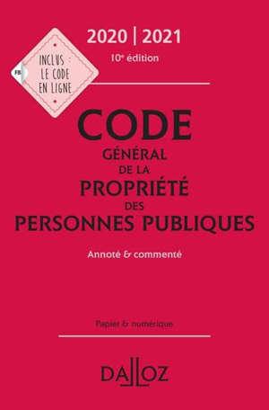 Code général de la propriété des personnes publiques 2020-2021