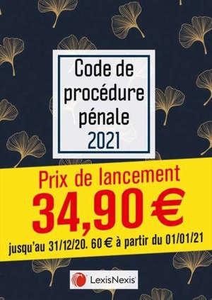 Code de procédure pénale 2021 : jaquette écailles