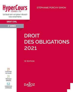 Droit civil 2e année : les obligations : 2021