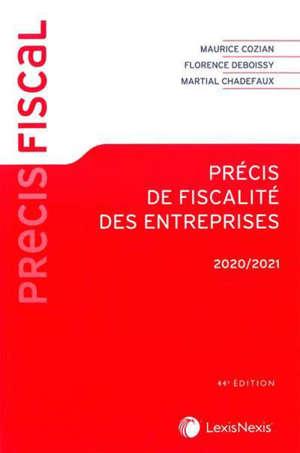 Précis de fiscalité des entreprises : 2020-2021