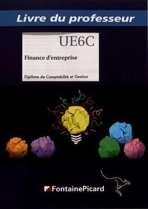 Finance d'entreprise : diplôme de comptabilité et gestion : livre du professeur
