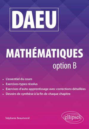 DAEU, mathématiques option B