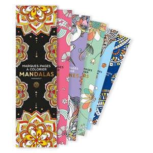 Mandalas : marque-pages à colorier